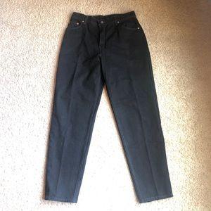 Vintage Levi's 550 Black High Waisted Mom Jeans